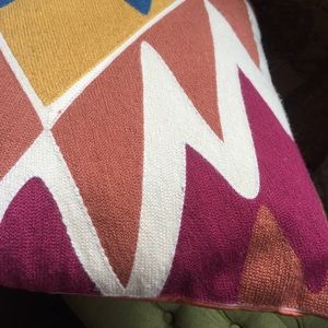 Anthropologie Accents - Geometric woven natural wool throw pillow /anthro